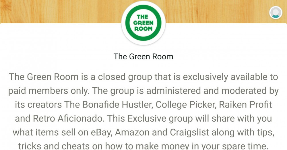 Green Room Exclusive Facebook Group TaughtToProfit