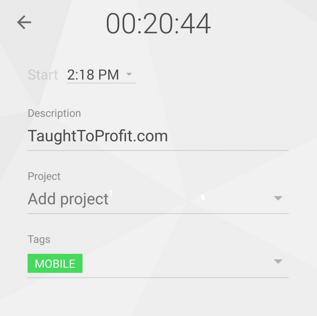 Using Toggl Is Very Easy - TaughtToProfit.com