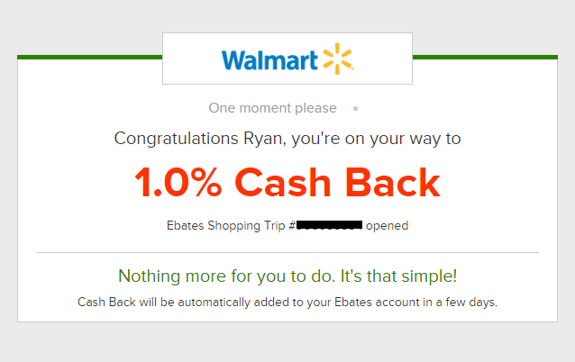 Ebates Walmart Cash Back Activated- TaughtToProfit.com