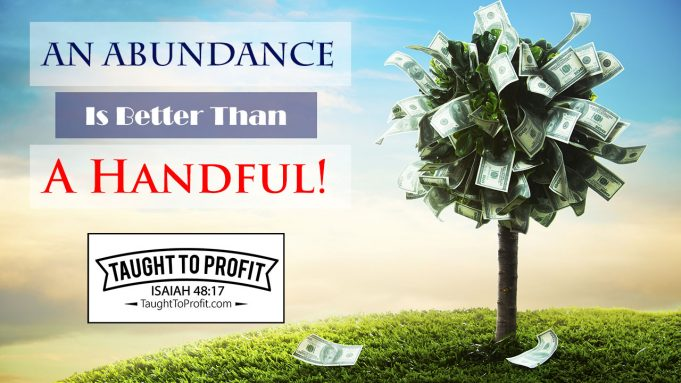 An Abundance Is Better Than A Handful! Defeat Lack By Doing Things The Way The Rich Do!