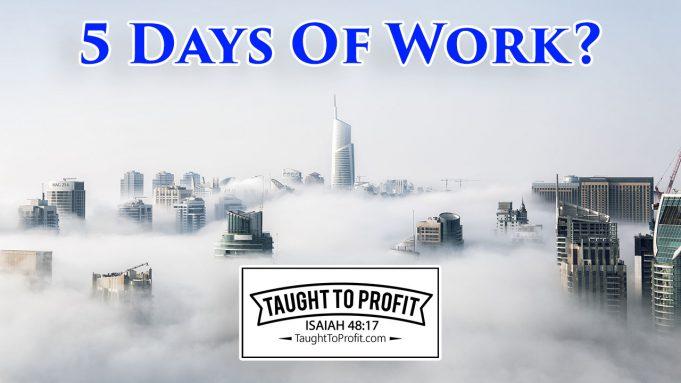 5 Days Of Work - Sabbath Keeping Laziness!