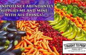 Omnipotence Abundantly Supplies Me And Mine With All Things!