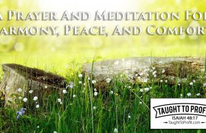 A Prayer And Meditation For Harmony, Peace, And Comfort!