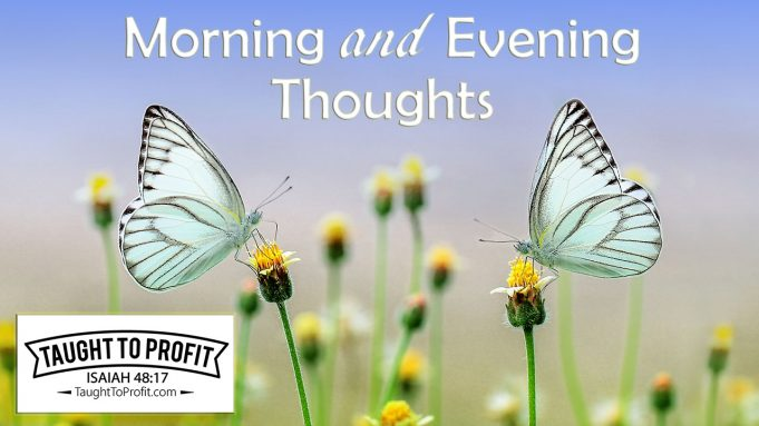 Morning and Evening Thoughts And Meditations By James Allen