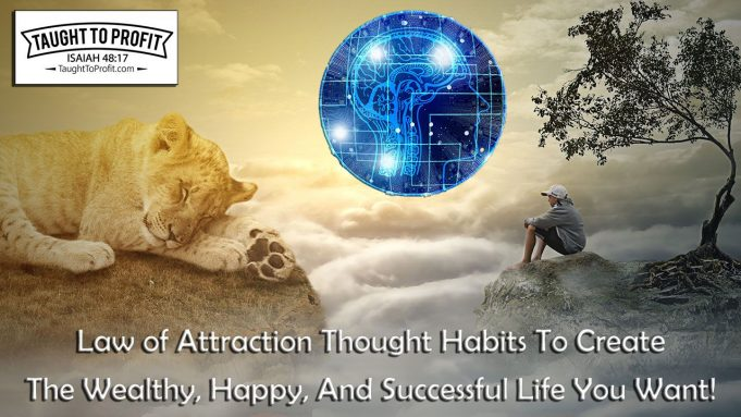 Law of Attraction Thought Habits To Create The Wealthy, Happy, And Successful Life You Want!