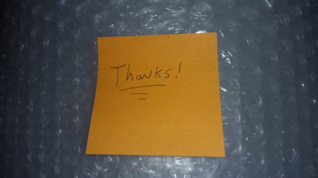 Thanks Post-It Note