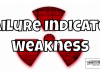 Continued Failure Indicates Weakness