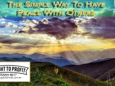 The Simple Way To Have Peace With Others
